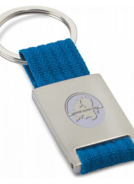 SSR Metal rectangular key ring Tech – Blue