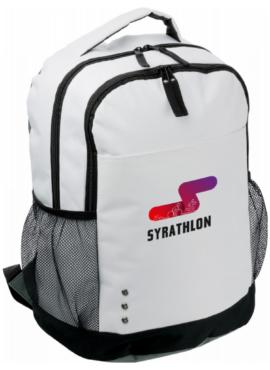 SYRATHLON Polyester (600D) backpack – White